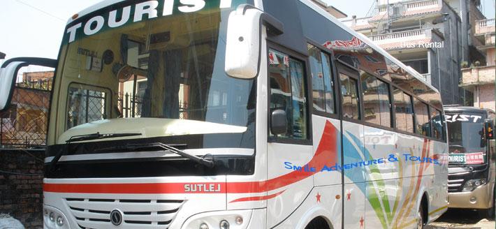 Rent a bus coach in Nepal Kathmandu