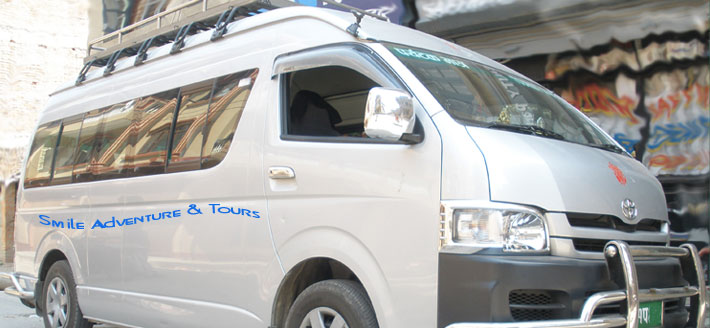 Rent a van Hiace Toyota in Nepal Kathmandu