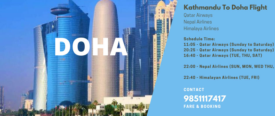 Kathmandu to Doha Flight
